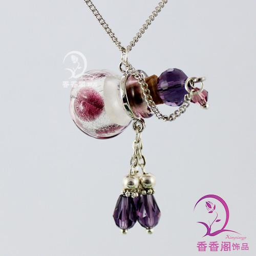 Wholesale perfume vial necklace fragrance necklace pendant perfume vial necklace fragrance necklace pendant essential oil vials glass vial pendant glass vials for rice jewelry perfume bottle atomizer aloadofball Image collections