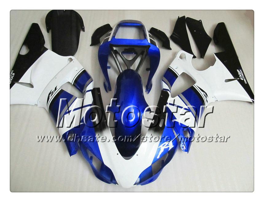 Carénages de carrosserie personnalisés 7Gifts pour YAMAHA 1998 1999 YZF-R1 98 99 YZFR1 98 99 YZF R1 YZFR1000 bleu blanc noir Carénage ABS NN12