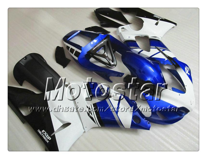 7 carretilhas de carroçaria personalizada para YAMAHA 1998 1999 YZF-R1 98 99 YZFR1 98 99 YZF R1 YZFR1000 carenagem ABS branco preto azul NN12