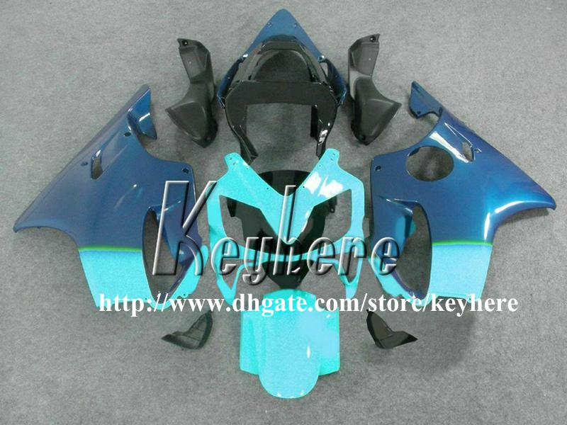 Free 7 gifts Custom race fairing kit for Honda CBR600 2001 2002 2003 CBR 600 01 02 03 F4I fairings G4h new black blue motorcycle body work