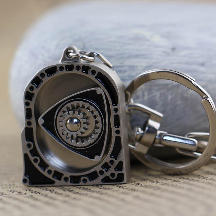 New Hot Auto Part Matte Engine Rotor Keyring Rotary Key