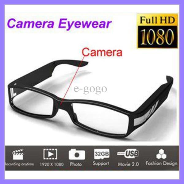 كامل HD 1080P نظارات كاميرا مصغرة كاميرا DV نظارات البسيطة DV كاميرا الفيديو
