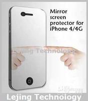 protecteur d'écran miroir 4s achat en gros de-protecteur d'écran miroir pour iPhone 4 4S protecteur d'écran LCD avant, écran pr