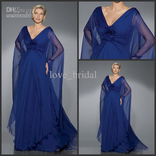 2013 Beach Mother Of The Bride Dresses A Line Royal Blue Ruffles V Neck  Chapel Train Wedding Party Guest Gowns 2018 From Love_bridal, $79.57 |  DHgate Mobile