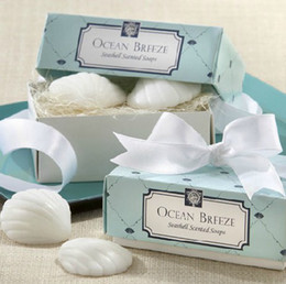 Wholesale Wedding Scented Favors - hot fashion new arrival Ocean Breeze summer beach seashell in the Nest Scented Soap for wedding festival party Decoration