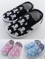 Wholesale Cheap Fashion Shoes Wholesale China - 2015 hot sale Fashion Skull Baby Shoes first walker shoes,toddler shoes,shoes sale,hot sale,china shoes,cheap shoes!12pairs 24pcs.J