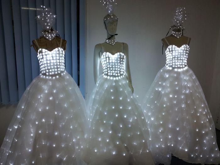 Led Light Wedding Dress Head Piece Fashion Dresses Womens