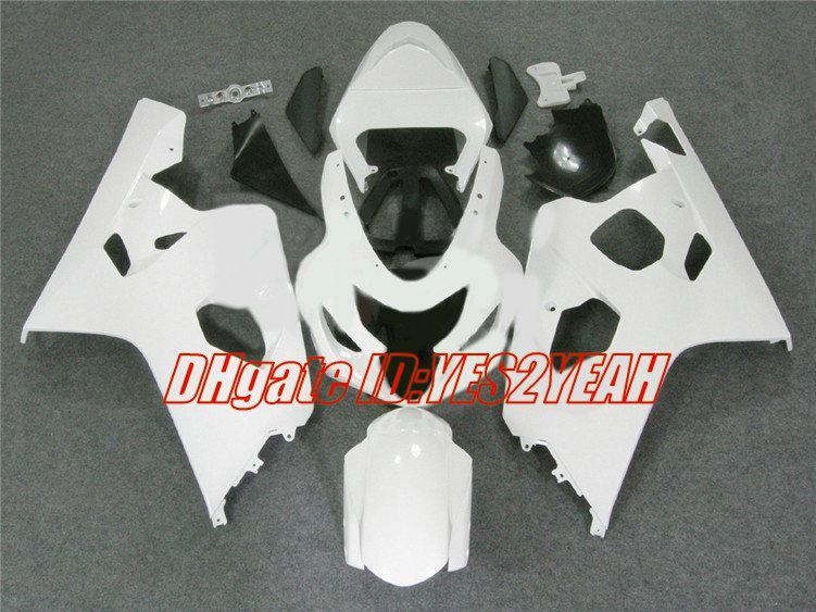 Kit de carenagem para 2004 2005 SUZUKI GSXR600 750 GSXR 600 GSXR750 K4 04 05 GSXR 750 Carenagem branca + presentes