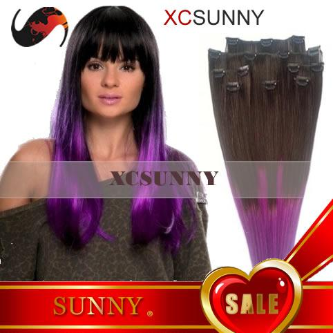 Stock 161820 70g 1bpurple dip dye two tone ombre color clip in stock 161820 7pcs 70g 1bpurple dip dye two tone ombre color clip inon hair extensions luxy remy human hair extension ce037 pmusecretfo Images