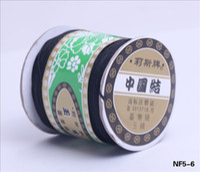 Wholesale String Beading Macrame - Classic 0.8mm Black Chinese Knotting Nylon Macrame Glossy Cord Braided Beading String Bracelet Craft Making DIY 675m bag NF5-6*5