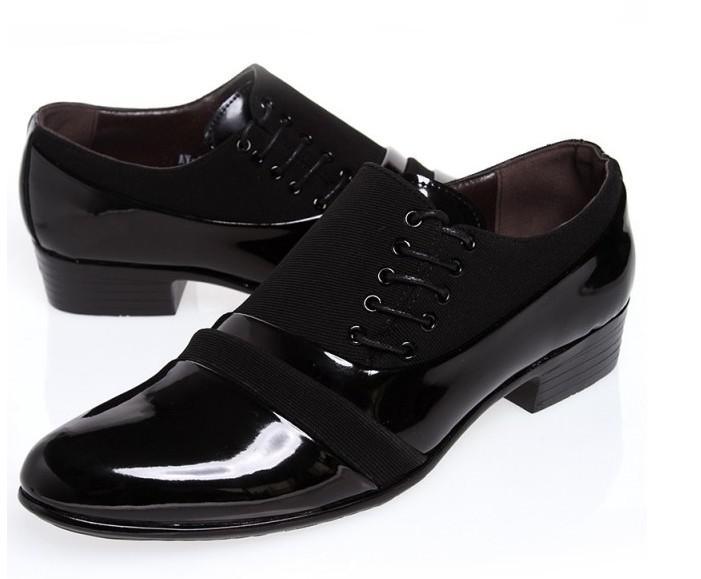 Size:39 44 Black Groom Shoes Men Leather Shoes Men'S ...