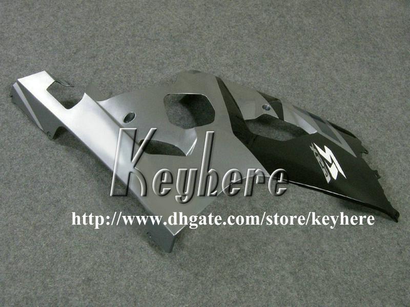 Kit carenatura personalizzata di 7 regali SUZUKI GSXR 600 750 04 05 GSXR600 R750 2004 2005 Carene GS4R600 K4 G7u moto nera vendita calda