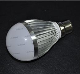 Wholesale B22 Bayonet White Led - GHJB1069 50pcs lot B22 Bayonet White LED Globe Light Bulb 6W 220V-240V
