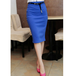 Wholesale Cheap Sexy Red Pencil Dress - 2016 Fashion Women Skirt Sexy Package Hip Skirt Vestidos Dress elastic High waist skirts Cheap Pencil Skirts dress casual wrapped skirt