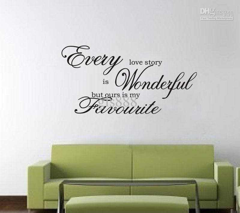 Yw1028 6080cm wall words lettering saying wall decor sticker vinyl wall art stickers decalshigh hand painted high quality wall decal vinyl wall decals from