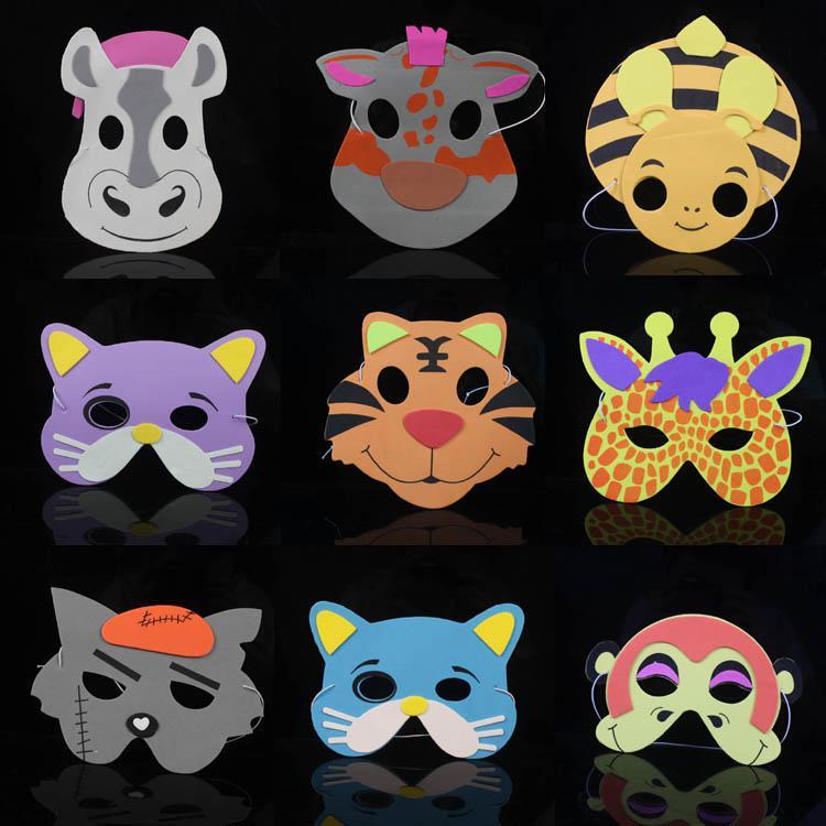 Animais dos desenhos animados Máscara de Presente de Aniversário Arte Decorativa Máscara EVA Carnaval Masquerade Bolas Presente Das Crianças MA20