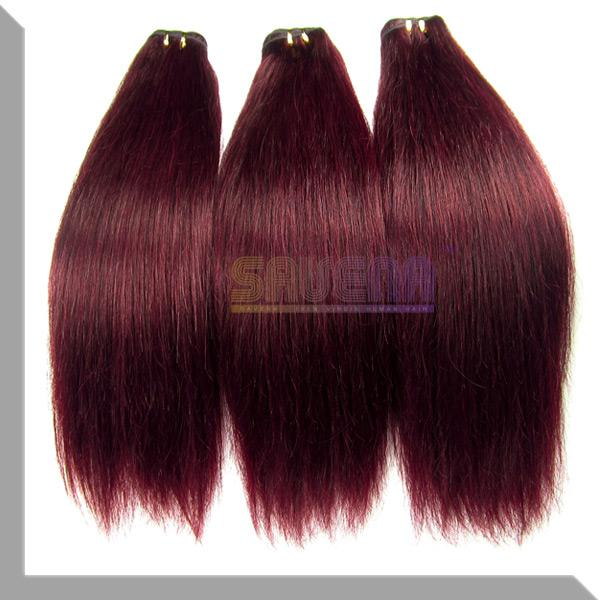 Cheap burgundy hair extensions 99j wine red straight hair 4a human see larger image pmusecretfo Gallery