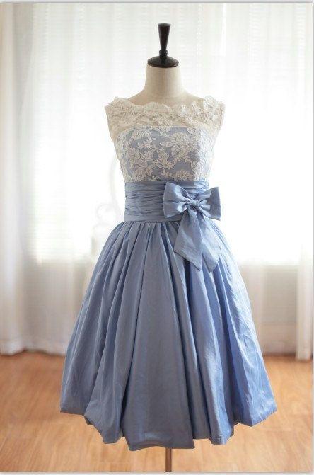 ¡Envío gratis! Vintage inspirado encaje Taffeta V trasero vestido de dama de honor 2016 Venta caliente hecha a medida ZWD-170