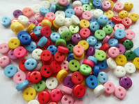 Wholesale Sew Candy - 1000pcs Candy color 6mm MINI round resin buttons,cute baby DIY appliques sewing scrapbook Cardmaking mix lot