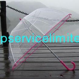 Wholesale Apollo Stainless Steel - Wholesale - Free shipping Apollo fashion pretty clear umbrella transparent colorful trim Dome shape