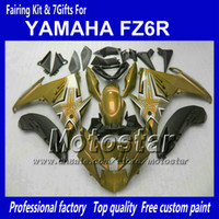 Wholesale Yamaha Fz - Motorcycle fairings for YAMAHA FZ6R FZ 6R FZ-6R glossy dusty glod black fairing body kit with 7 gifts NN91