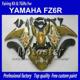 Черный обтекатель yamaha fz6r онлайн-Мотоцикл обтекатели для YAMAHA FZ6R FZ 6R FZ-6R глянцевый пыльный Глод черный обтекатель обвес с 7 подарков NN91