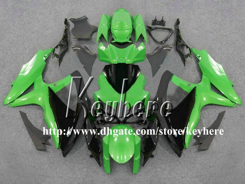 Kit de carénage de course gratuit pour 7 cadeaux pour SUZUKI GSXR600 R750 08 09 10 GSXR 600 750 2008 2009 2010 Carénages K8 Carrosserie de moto noire verte G4k