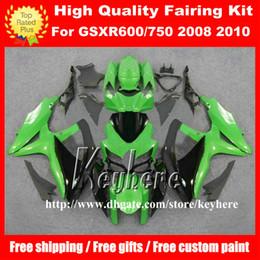 Wholesale Motorcycle Race Bodywork - Free 7 gifts race fairing kit for SUZUKI GSXR600 R750 08 09 10 GSXR 600 750 2008 2009 2010 K8 fairings G4k green black motorcycle bodywork