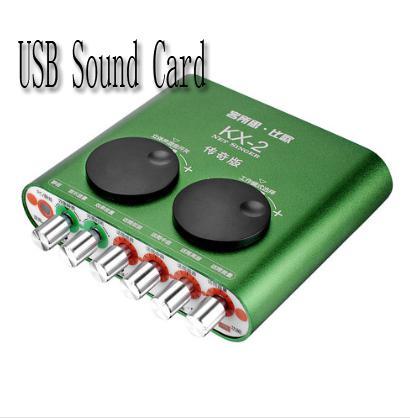 XOX KX-2 version du légendaire support de chant K USB externe de la carte son légendaire Microphones dynamiques à condensateur d'enregistrement pour ordinateur portable