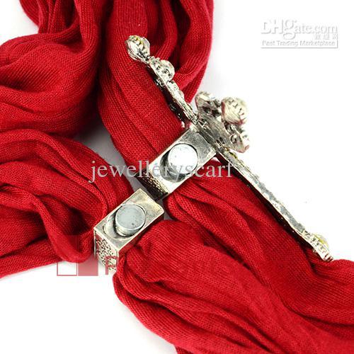 / Top popolare gioielli sciarpa magnete accessori in lega di zinco lustro strass croce pendente magnetico, trasporto libero, AC0220