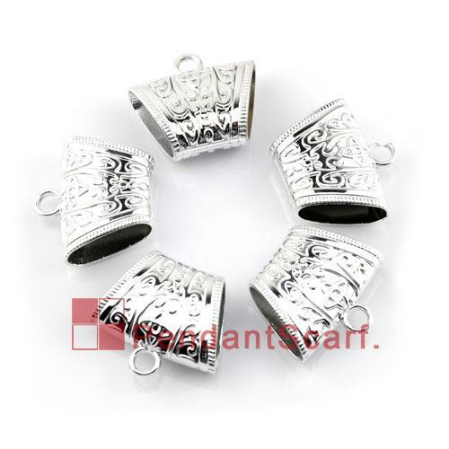 / accessori del pendente della sciarpa dei gioielli di qualità superiore brillano le barre del tubo della tenuta dello scorrevole di CCB di plastica d'argento, trasporto libero, AC0107