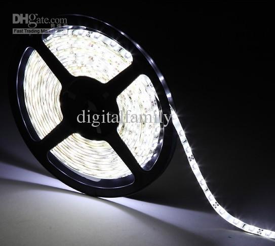 LED Strip Light 20m LED Lint Blauw Wit Rood Warm 3528 SMD Flexibele Waterdichte 60Led / M Met Connector met 12 8A 96W-voeding