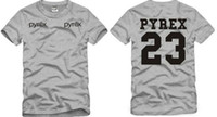 Wholesale Pyrex Vision 23 - Free shipping Chinese Size S--XXXL retail 1 piece Pyrex23 tee pyrex vision cylincler kanyegd 23 short-sleeve tee 100% cotton 6color