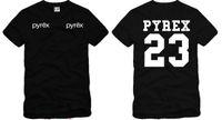 camiseta de los hombres ocasionales al por mayor-Envío gratis moda verano PYREX VISIÓN 23 camiseta moda camisetas hombres camiseta hip hop camiseta streetwear camiseta 100% algodón 6 color