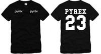 chemise pyrex homme achat en gros de-Livraison gratuite mode été PYREX VISION 23 tshirt mode T-shirts hommes tshirt hip hop tshirt streetwear t-shirt 100% coton 6 couleurs