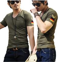 ingrosso tshirts xxxl-Magliette di marca degli uomini liberi di trasporto, magliette di stampa dell'uomo, maglietta del V-collo di modo, più formato 5 taglia M-XXXL