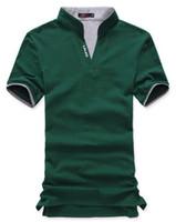 Wholesale Mens Wholesale Polo Shirts - Freeshipping wholesale mens cotton multi-color polo shirt short sleeve plain t-shirts, mens polo shirts MTS001