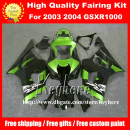 Kit Motorcycles For Sale Canada - Free 7 gifts ABS Plastic fairing kit for GSXR1000 03 04 GSX-R1000 GSXR 1000 2003 2004 K3 fairings G3i hot sale green black motorcycle parts