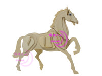 Wholesale Puzzle Horse - Zodiac Signs Horse 3D Puzzles Animal Dolls Desktop Decoration DIY Model Jigsaw Educational Toys
