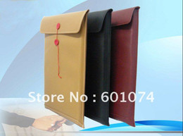 "Wholesale Leather Laptop Sleeve Macbook Pro - Leather Envelope Case Bag Pouch For 13.3"" Macbook Air"
