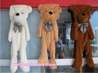 Wholesale Big Teddy Bear 2m - Wholesale 20pcs lot bulk 200CM 2M unfilled teddy bear skin empty Teddy bear plush toys coat birthday Valentine's Day Gift soft big skin