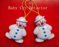 Wholesale Wireless Alarm Transmitters - 1set Lovely Snowman Wireless Baby Cry Detector Monitor Watcher Alarm With Receiver and Transmitter Free Shipping