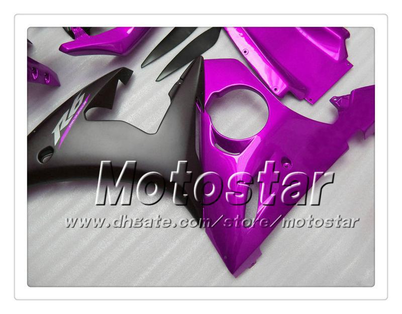 7 regalos carenados de trabajo de carrocería personalizados para YAMAHA 2005 YZF-R6 05 YZFR6 05 YZF R6 YZF600 brillante púrpura negro ABS Carenado OO77