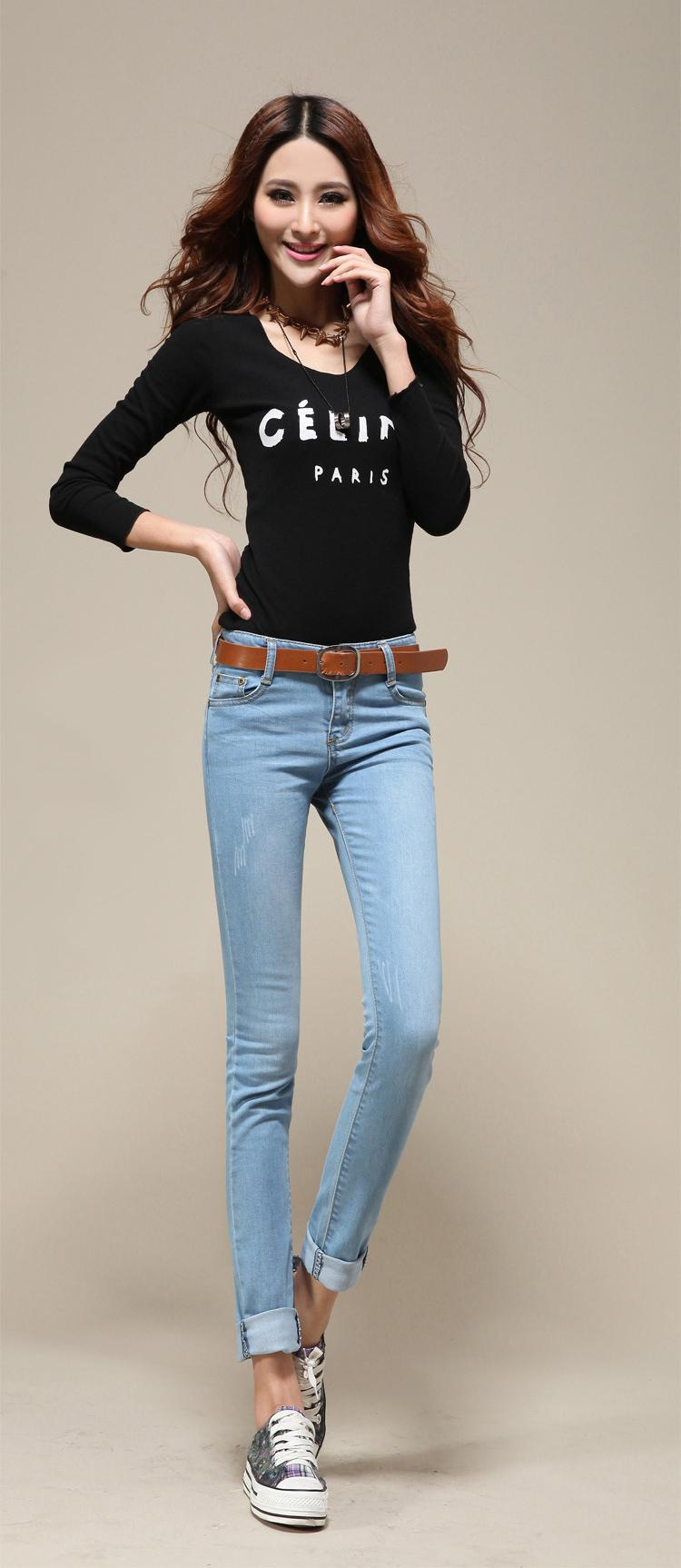 2021 Hot Fashion Sexy Lady Jean Womens Jean Skinny Jean