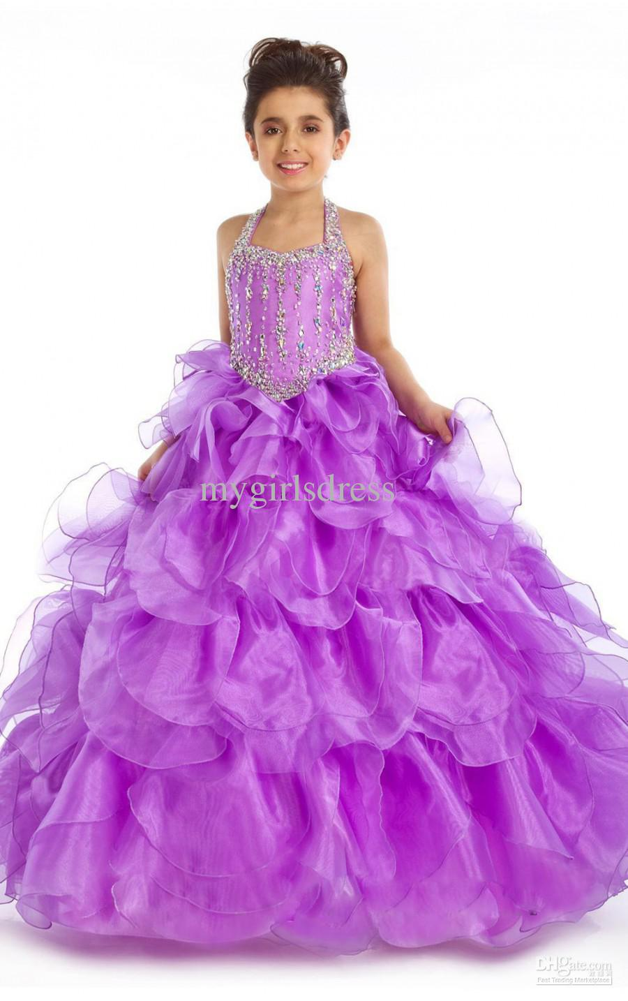 New Girl Kids Pageant Bridesmaid Dance Party Princess Ball Gown ...