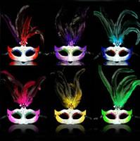 Wholesale Crazy Carnival - 6 Colors Crazy Party Masks Bright Carnival Costumes Masks Mardi Gras Masks for Ladies 10PCS LOT LP063