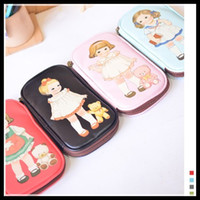 Wholesale Doll Mate - Pen Bag Stationery bags Retro Girls Paper Doll Mate Zipper Wallet Girl Student Loves gifts hot selling good quality leather bag dropship new