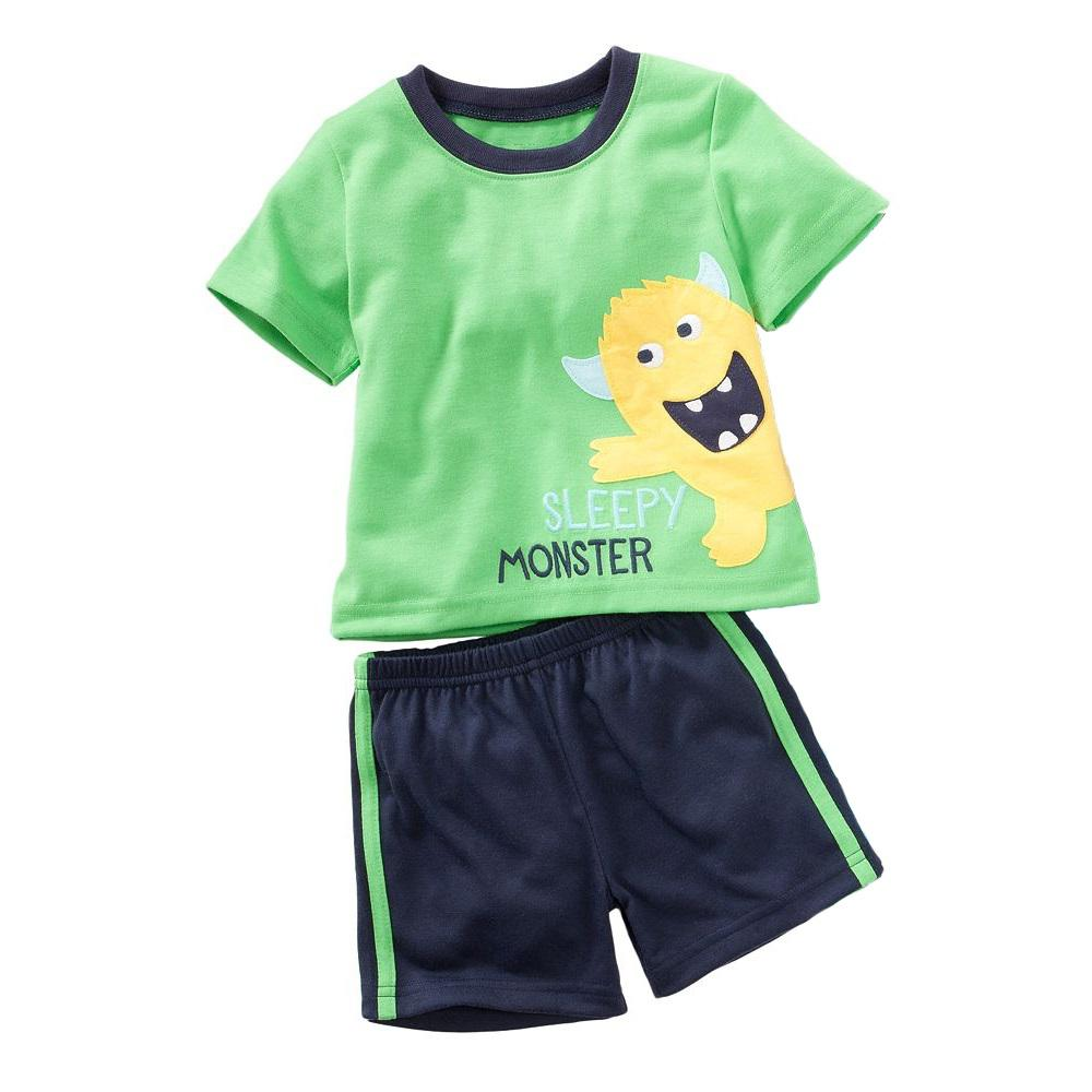 Monster Boy Pajamas Short Suits Children Clothing