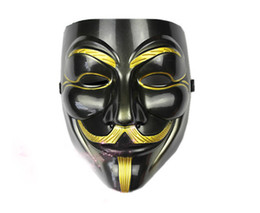 v for vendetta black mask Coupons - 10pcs lot News Environmental PVC Black Masks V for Vendetta Bauta For Anonymous's Iconic Halloween Masks MA29