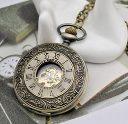 Wholesale Mechanical Vintage Pocket Watches - Luxury MENS 47MM Automatic Vintage Style DOUBLE DEMI HUNTER Case POCKET WATCH Unisex Wristwatch Men's Mechanical pocket Watches